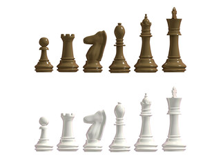 Figures from a chess