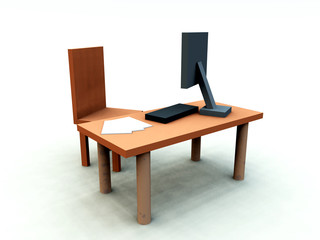 Desk With Chair 1