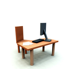 Desk With Chair 2