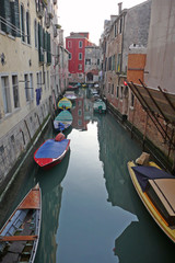 a beautiful canal of Venice Italy