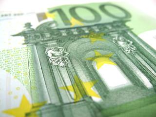 hundred euro close-up