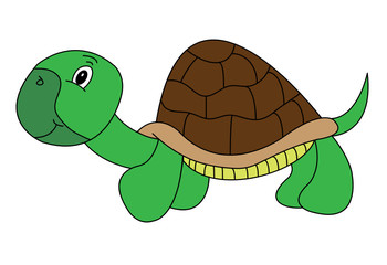 Smiley Cartoon Turtle