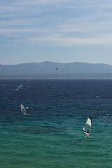 Windsurfing on the adriatic sea