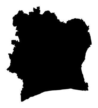 map of Cote D'Ivoire