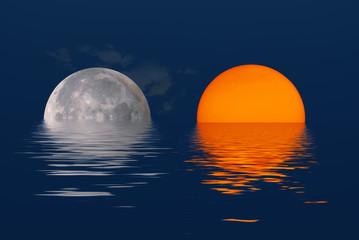 Le soleil et la lune