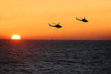 navy helicopters on patrol