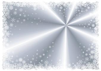 Silver winter frame