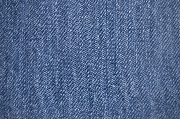 Blue stone-washed denim fabric texture