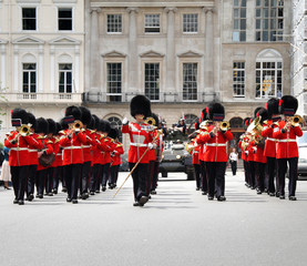 Coldstream Guards Marching in London