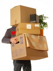 Karton tragen