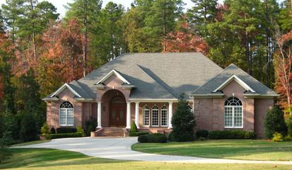 Palatial brick home