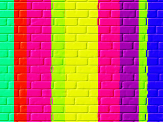 Colour Brickwork abstract