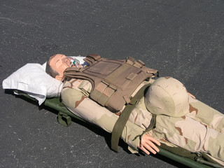 Military Mannequin on stretcher