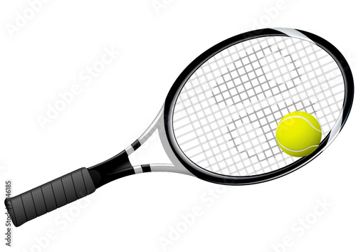raquette et balle de tennis fichier vectoriel libre de droits sur la banque d 39 images fotolia. Black Bedroom Furniture Sets. Home Design Ideas