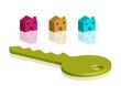 chiave di casa verde