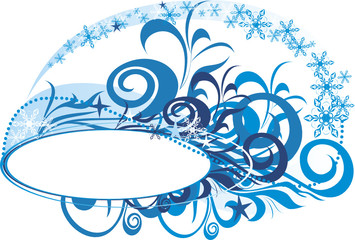 christmas background with space for text - vector