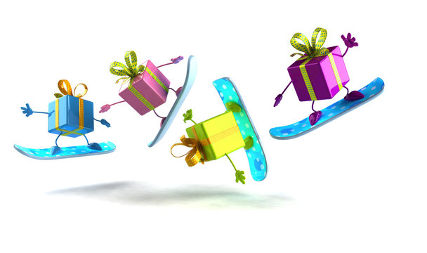 Cadeaux en snowboard