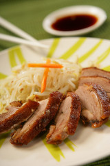 Pork roast with soya sprouts