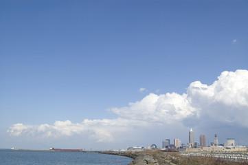 Cleveland Skyline with Oreship