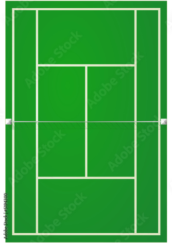 Terrain de tennis sur surface dure fichier vectoriel for Surface terrain de tennis