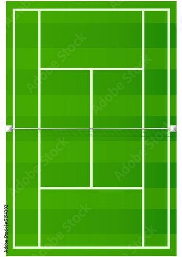 Terrain de tennis sur gazon fichier vectoriel libre de for Prix terrain de tennis