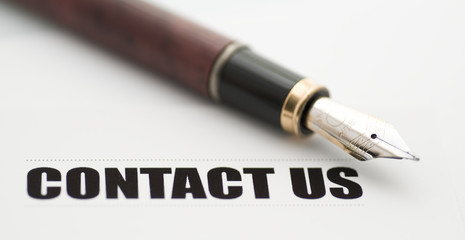 contact us with fountain pen
