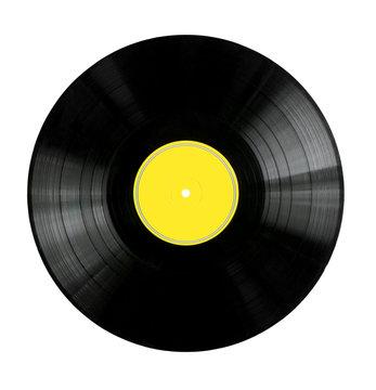 Vinyl Record with Yellow Label