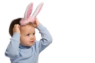 little kid in rabbit's ears