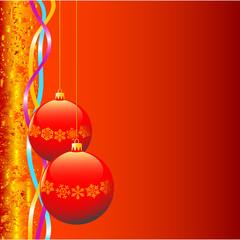 Christmas bulbs.