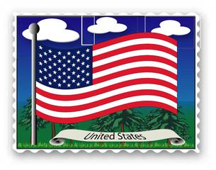 Briefmarke Vereinigten Staaten