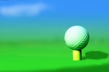 balle de golf sur tee