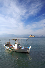 Traditional greek fishing boat - Nauplio, greece