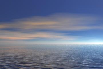Ocean view - 3d render illustration