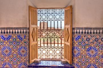 morrocan decorated window in ouarzazate
