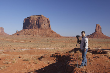 Cameraman in Monument Valley