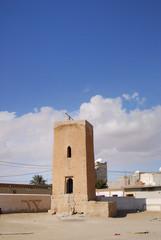 Vue ancienne mosquée à Tozeur