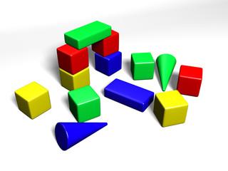 building cubes for children