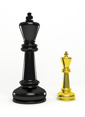 gold and black chess king