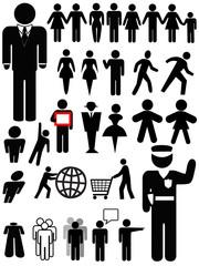 Symbol Person Silhouette Set