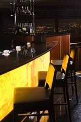 Interior shot of bar.