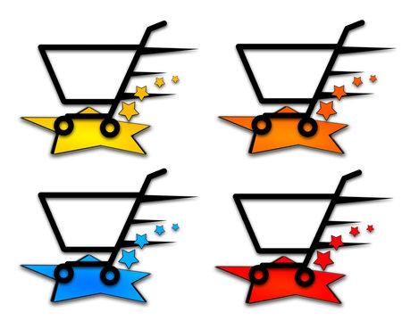 Shoppinh Cart colored