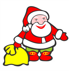 santa claus and bag