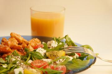Salad on a plate-4