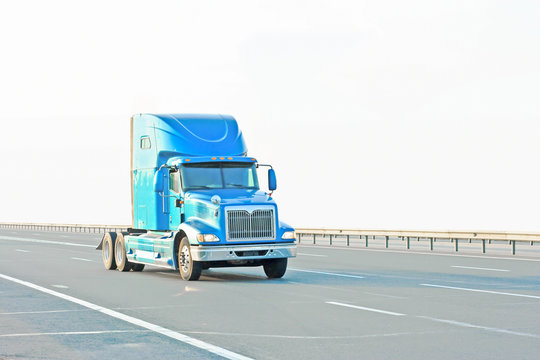 "Blue vivid American truck  of ""Trucks"" series in my portfolio"