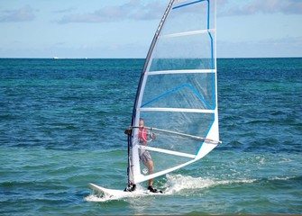 Board Sailing off Virginia Key