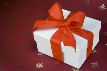 White box present