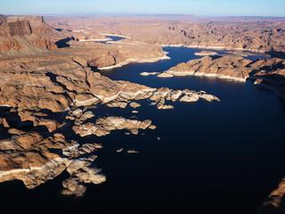 Aerial of Lake Powell.