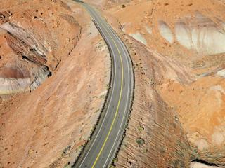 Highway through desert.