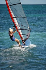 Woman on a Sailboard