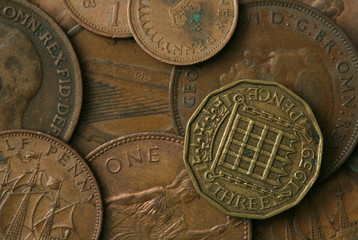 Old UK Coins Texture